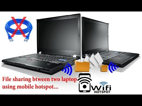 Share File Between Two Laptop Using  Mobile Hotspot..