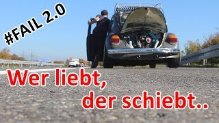 Low Budget Käfer wieder liegen geblieben | Polizei Ärger
