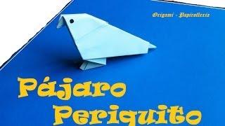 Origami - Papiroflexia. Pájaro, Periquito.