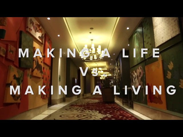 Walk-through our previous event 'Making A Life vs. Making A Living' by Gurcharan Das