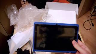 Android Tablet für 36€ Unboxing und erster Eindruck