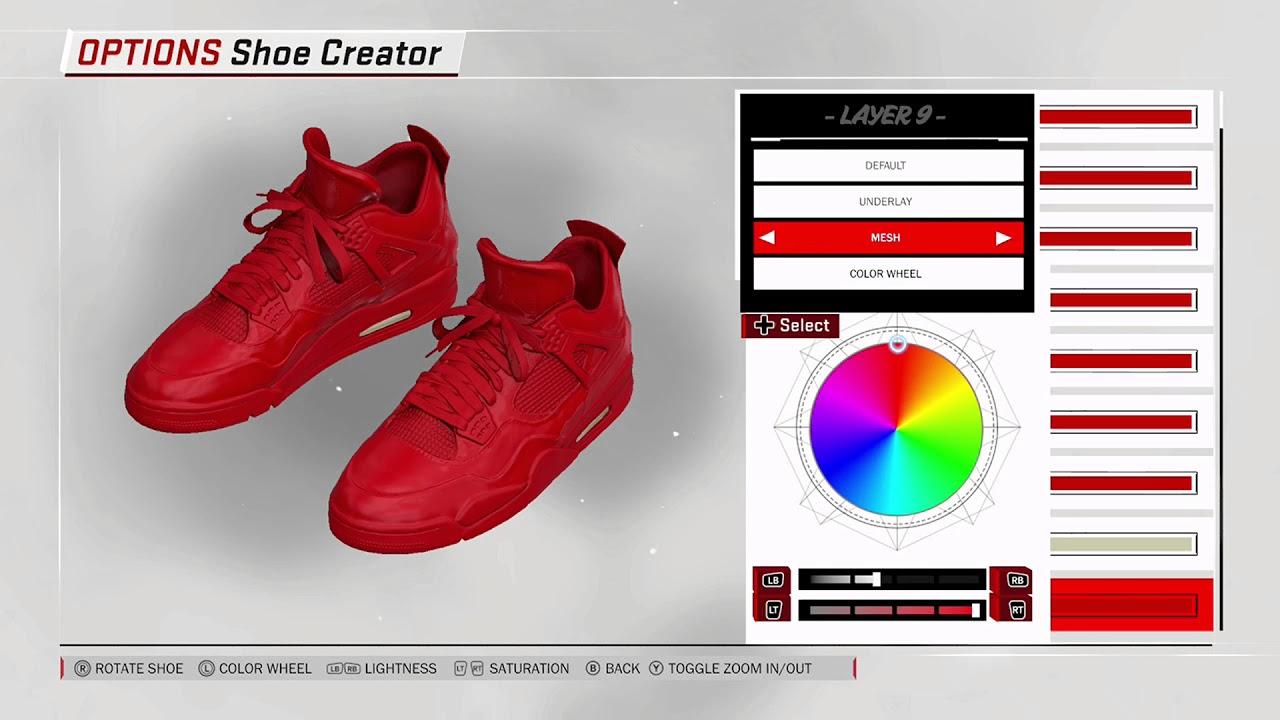6dd9a8969801e7 NBA 2K18 Shoe Creator - Air Jordan 4