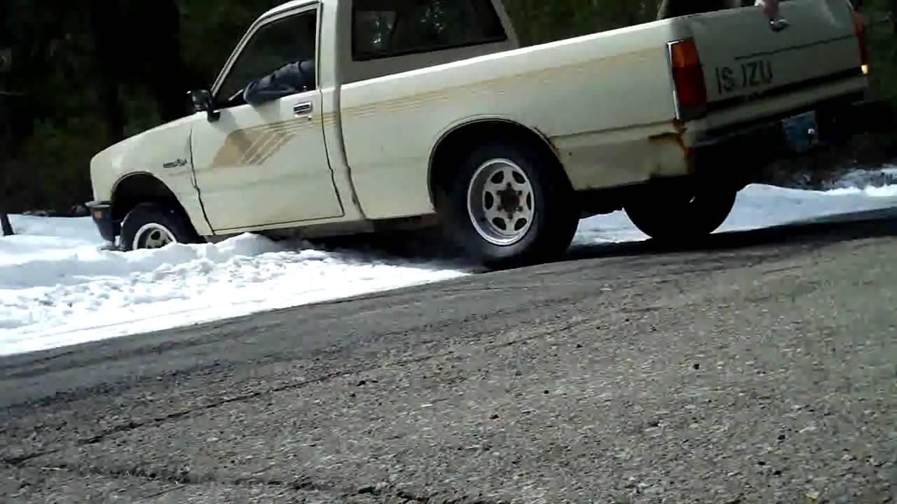 isuzu pup in the snow 4wd - youtube