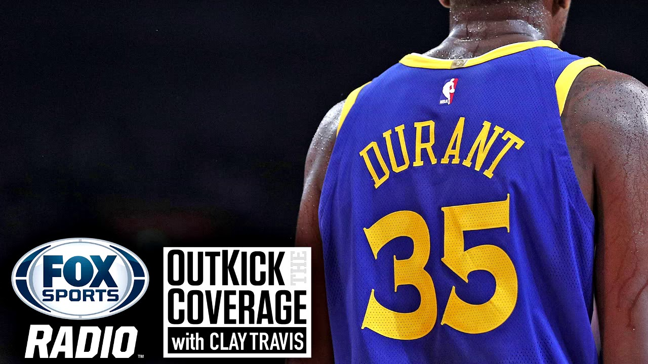 hot sale online 50142 d6c32 Clay Travis - It's Crazy That the Warriors Are Retiring Kevin Durant's  Jersey