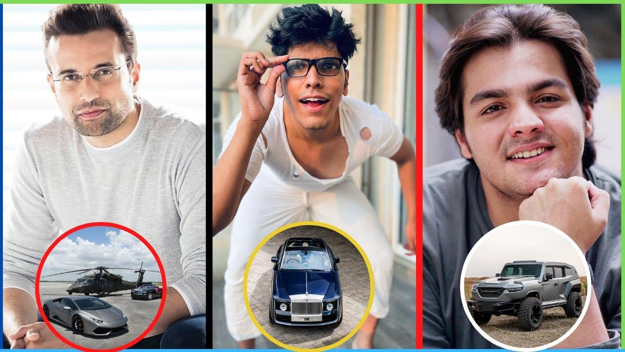10 Most Expensive Cars of Indian YouTubers - Technical Guruji, Techno Gamerz, Carryminati, Mythpat