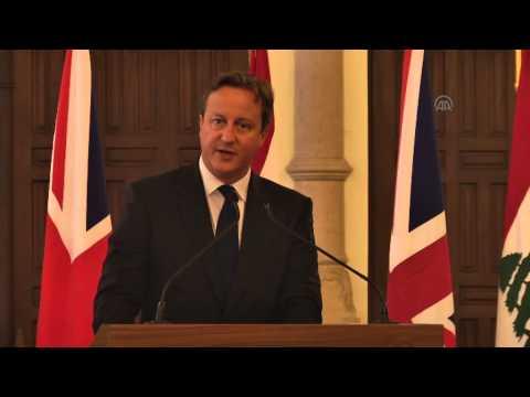 British Prime Minister David Cameron in Lebanon