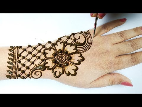 Arabic Bridal Mehndi Design for Hands Step by Step - आसान शेडेड मेहँदी लगाना सीखे -Beautyzing Mehndi