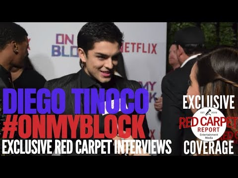 "Diego Tinoco interviewed at Premiere of Netflix's coming of age comedy ""On My Block"" #OnMyBlock"