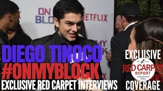 """Diego Tinoco interviewed at Premiere of Netflix's coming of age comedy """"On My Block"""" #OnMyBlock"""