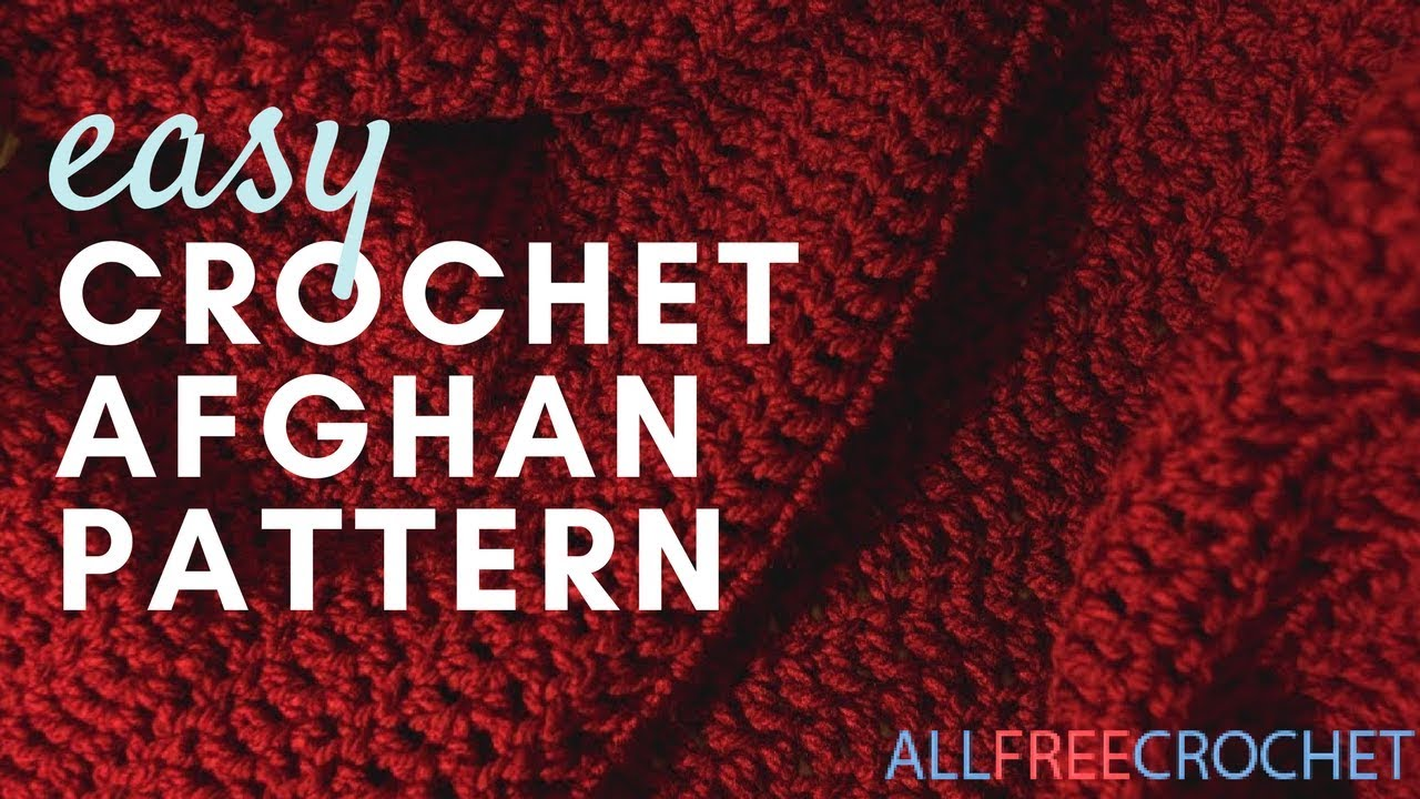 Worlds Easiest Crochet Afghan Pattern - YouTube