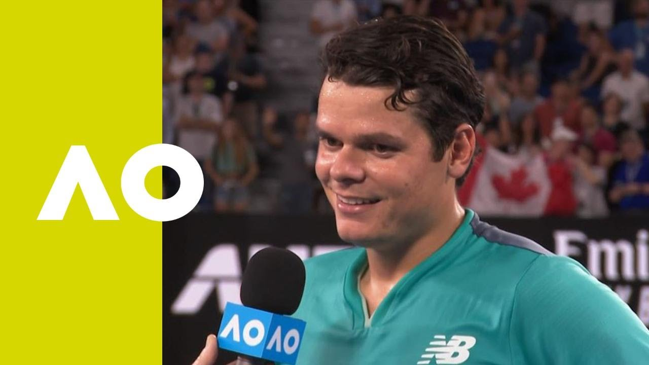 Milos Raonic on-court interview (2R)   Australian Open ...