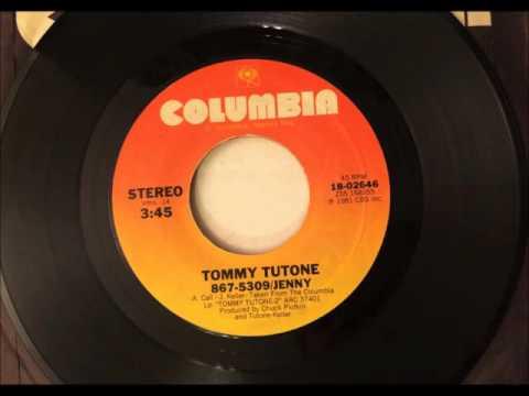 867-5309/Jenny , Tommy Tutone , 1981 Vinyl 45RPM