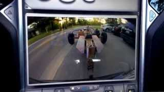 Tesla Motors Model S: First time towing a Trailer!!!