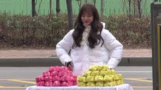 구구단(gugudan) 세정 밥버거를 먹으면 속이 든든해져요