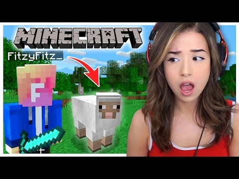Playing Minecraft for the First Time with Fitz! | Houses, Diamonds, Sheep, & Fishing!