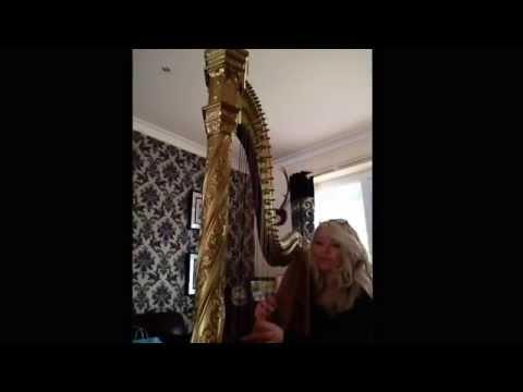 She's like the wind harp Harpist Jessica Sutton UK