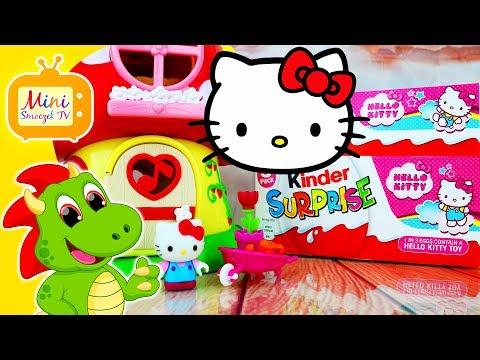Hello Kitty Bajka | Jajka Kinder Niespodzianki | Domek Dla Lalek | Filmik Dla Dzieci Po Polsku