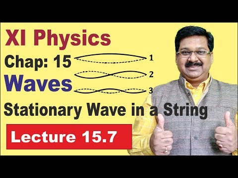 NCERT XI Physics Chap-15.7 | Stationary Wave in a string | Standing waves | Waves |