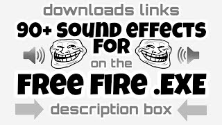 90+ SOUND EFFECTS FOR FREEFIRE PUBG EXE