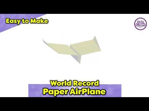 How to make DIY Paper Airplane | 教你如何摺出最遠世界紀錄的紙飛機
