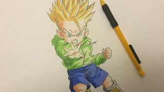 Drawing Kid Trunks Super Saiyan