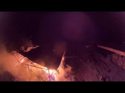 Пожар на складе сена ИП Бойченко- Стрежевой, 05.09.18