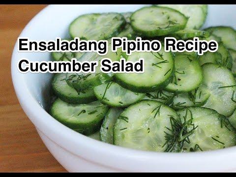 Ensaladang Pipino Recipe - Cucumber Salad Pinoy Filipino