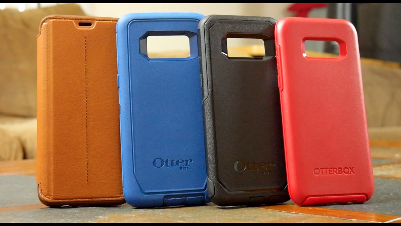 quality design 56a91 e6b62 Galaxy S8 - All OtterBox Series Hands On Comparison Defender vs Commuter vs  Symmetry vs Strada