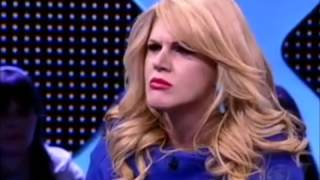 BARRACO  Joana Machado e Val Marchiori batem boca na TV