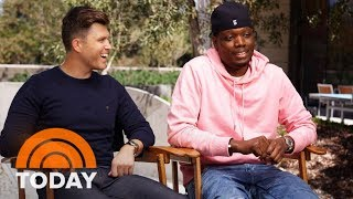SNL Hosts Colin Jost And Michael Che Offer Emmy Awards Sneak Peek   TODAY