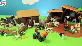 Playmobil Country Farm Barn Build and Animals Toys For Kids