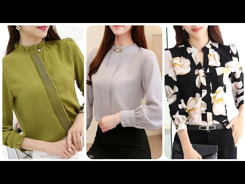 Latest And Outstanding Women Chiffon Plain And Floral Print Blouse Designs For Casual & Office Wear