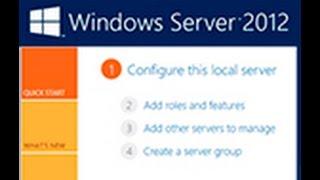 Windows server 2012 - установка роли Active Directory Часть 1