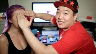 One of Gina Darling's most viewed videos: Boyfriend Does My Makeup Tag Feat. David So Comedy