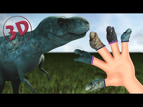 Finger Family Dinosaurs 3D | T-Rex Daddy Finger Nursery Rhyme 3D