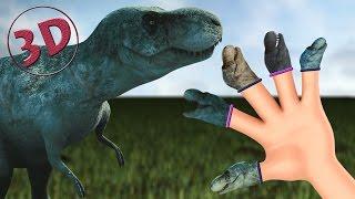finger family dinosaurs 3d   t rex daddy finger nursery rhyme 3d