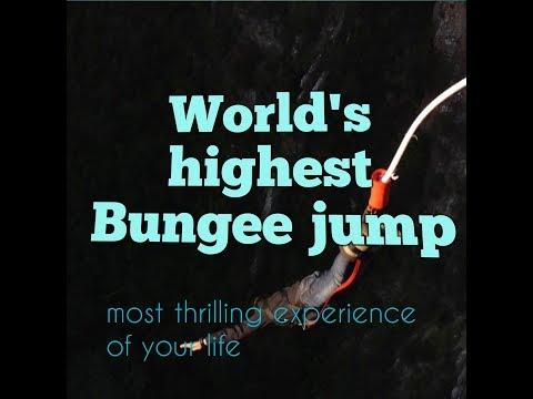 World's highest bridge Bungee jump   Bloukrans Bungy   Adventure   Extreme sport 2017   South Africa