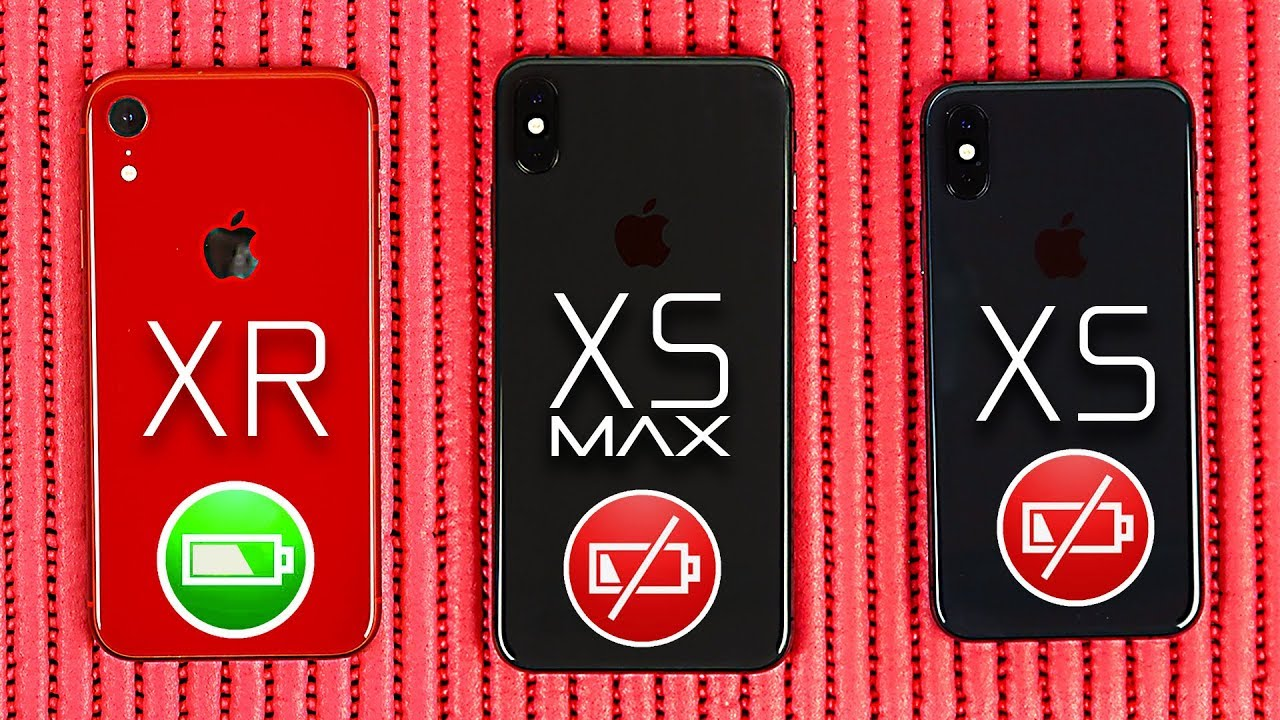 buy popular 7ad7f 0bfb2 iPhone XR vs XS vs XS Max- Battery life Comparison