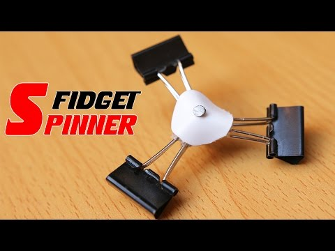 How To Make A Fidget Spinner Out Of Household Items Without Bearings