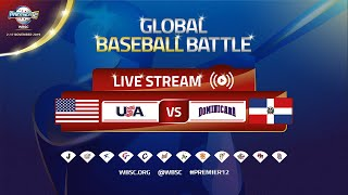 SPANISH - USA v Dominican Republic - WBSC 2019 Premier12 Group Stage