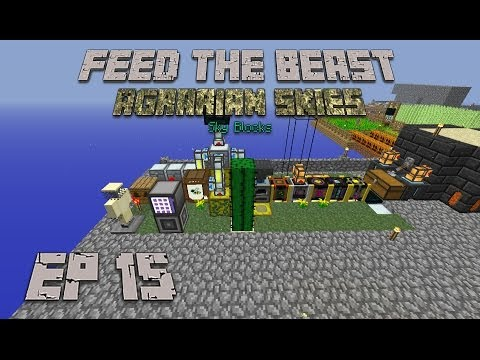 Feed The Beast Agrarian Skies Ep 15 Genetically modified bees (SkyBlock)