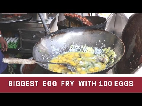 Access youtube the biggest egg fry ever with 100 eggs egg poriyal indian street food forumfinder Images