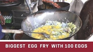 The BIGGEST  Egg  Fry Ever with 100 eggs!   Egg poriyal - Indian street food