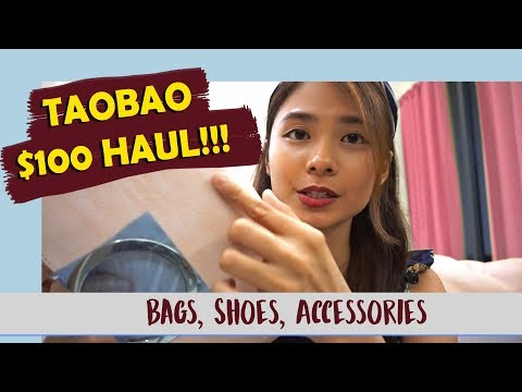 TAOBAO S$100 HAUL | Fashion Accessories Edition (Bags, Shoes, etc)