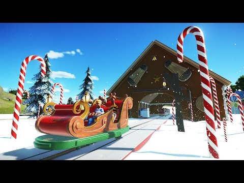 Planet Coaster Gameplay - Candy Land Sleigh Ride! - Let's Play Planet Coaster Part 8