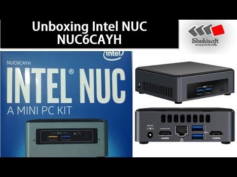 Intel NUC NUC6CAYH UnBoxing  - Installed Windows 10   Shukisoft