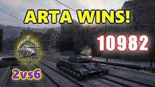 World of Tanks - WZ-111 model 5A - 11K Damage 9 Kills - 2vs6 - ARTA WINS!