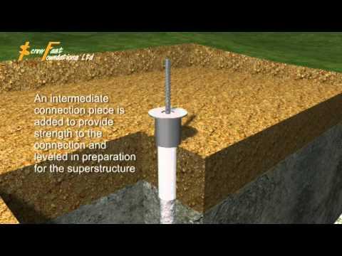Grip Pile Foundation 3d Animation Youtube