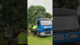 Daf LF 45 grab wagon bridlington doing some bush uprooting