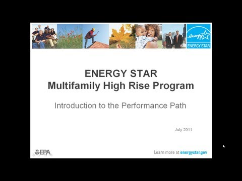 Introduction to the Performance Path: ENERGY STAR for Multifamily HIgh Rise Program